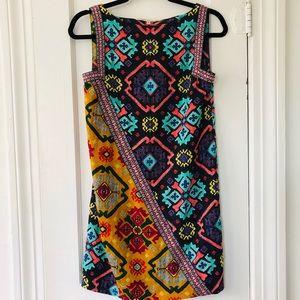 RACHEL Rachel Roy Multicolor Tribal Shift Dress